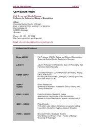 Download Curriculum Vitae - Ethik und Geschichte der Medizin