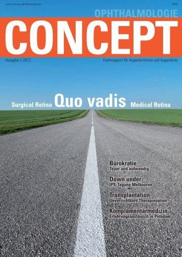 Concept Ophthalmologie, Heft 2/2012 - Klinikum Ernst von ...