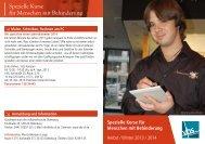 Spezielle Kurse für Menschen mit Behinderung - Volkshochschule ...