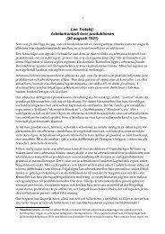 Leo Trotskij: Arbetarkontroll över produktionen (20 ... - Marxistarkiv