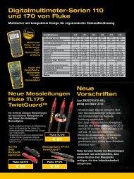 Digitalmultimeter-Serien 110 und 170 von Fluke