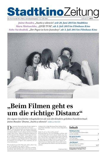 """""""Beim Filmen geht es um die richtige Distanz"""" - Stadtkino Wien"""