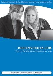 Kursprogramm als PDF - medienschule.com