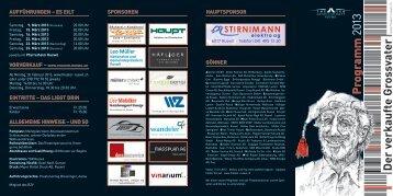 Der verkaufte Grossvater Programm 2013 - Theatergesellschaft Ruswil