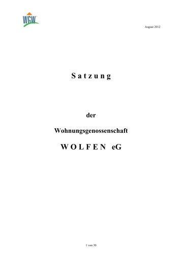 Download Satzung - Wohnungsgenossenschaft Wolfen eG