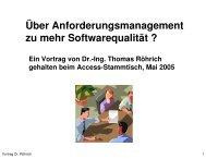 Über Anforderungsmanagement zu mehr Softwarequalität - Access ...