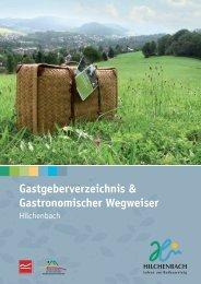 Gastgeberverzeichnis & Gastronomischer Wegweiser - CVJM ...