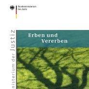 """herunterladbare Broschüre """"Erben und Vererben"""""""