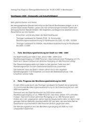 Referat von Bau- und Wirtschaftsdezernentin ... - Stadt Nordhausen