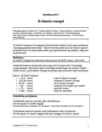 D vitamin mangel 42