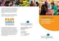 Angebote der SEZ für Weltläden und Engagierte im Fairen Handel