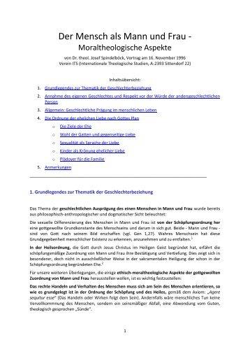 """""""Der Mensch als Mann und Frau"""" - Vortrag von Dr ... - Gottes Warnung"""