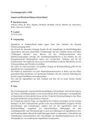Forschungsprojekt: 1.5009 Jugend und Berufsausbildung in ... - BiBB