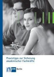 Praxistipps zur Sicherung akademischer Fachkräfte - TU Berlin