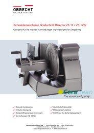 Produktblatt VS 12 / VS 12 W - OBRECHT Technologie AG