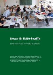 Glossar für Hattie-Begriffe - Visible Learning