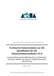 Technische Dokumentation zur QS-Spezifikation für QS ... - SQG