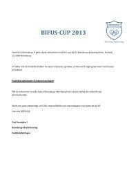 BIFUS-‐CUP 2013 - Brenderup IF