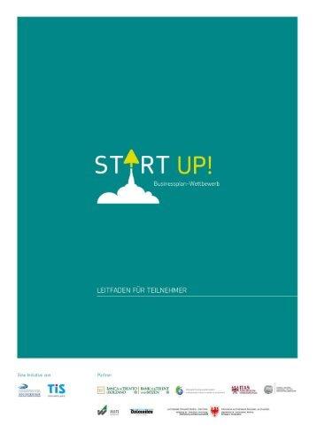 """Handbuch """"Von der Idee zum eigenen Unternehmen"""" - START UP!"""