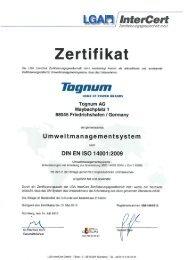 Zertifikat - Tognum AG