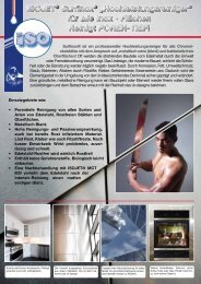 """ISOJET® Surfinox® """"Hochleistungsreiniger"""" für alle Inox - Flächen ..."""