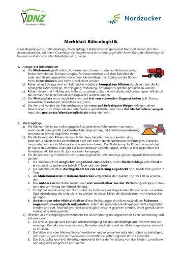 Merkblatt2010_13.indd - Nordzucker AG