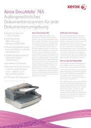 Xerox DocuMate® 765 Außergewöhnliches ... - Scanners