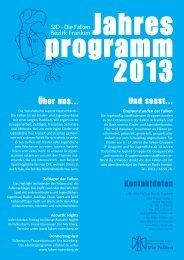 Jahresprogramm des Bezirks als Download - Falken Franken