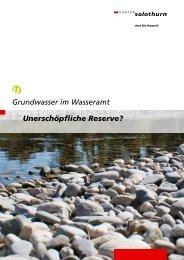 Grundwasser im Wasseramt - Kanton Solothurn
