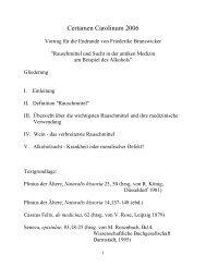Friederike Brunswicker, Rauschmittel und Sucht in der antiken ...