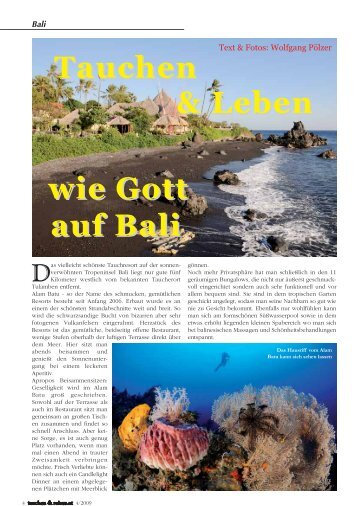 Tauchen-Reisen/Nummer 4, 2009 - Alam Batu