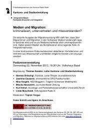 12 11 22 Flyer Medien und Migration - Integration Basel