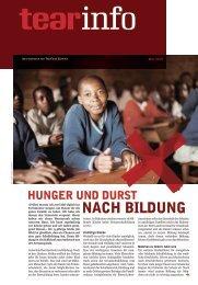 Hunger und Durst nach Bildung - TearFund