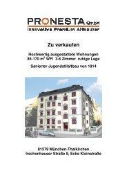 Zu verkaufen - PRONESTA GmbH