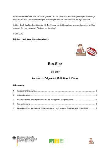 Bio-Eier - Oekolandbau.de