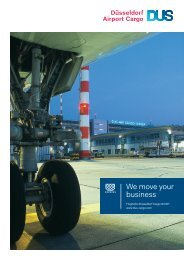 We move your business - Flughafen Düsseldorf Cargo GmbH