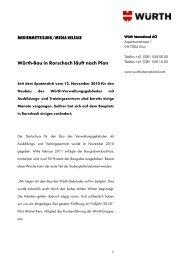 Würth-Bau in Rorschach läuft nach Plan - Würth Haus Rorschach