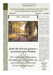 Sonderausgabe zur Königlichen Hochzeit am 27.08.2012