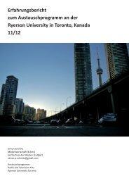 Ryerson University of Toronto – Simon Schmitz - Hochschule der ...