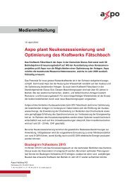 Medienmitteilung Axpo Holding AG, 10. April 2012