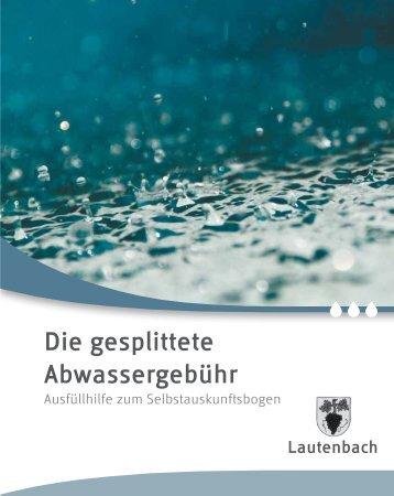 öffenen - Die gesplittete Abwassergebühr