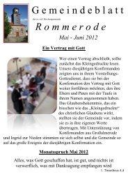 Gemeindeblatt Rommerode Mai-Juni 2012 - Ev. Kirchengemeinden ...