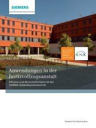 GAMMA Anwendungen in der Justizvollzugsanstalt - Siemens
