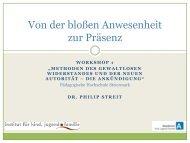 Stärke statt Macht - Pädagogische Hochschule Steiermark