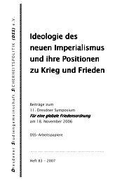 Ideologie des neuen Imperialismus und ihre Positionen zu ... - DSS