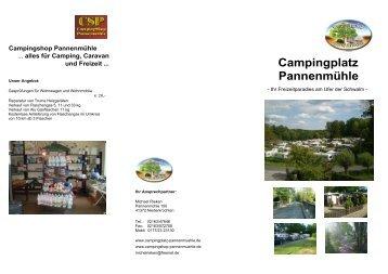 Campingplatz Pannenmühle - Campingplatz-Pannenmuehle