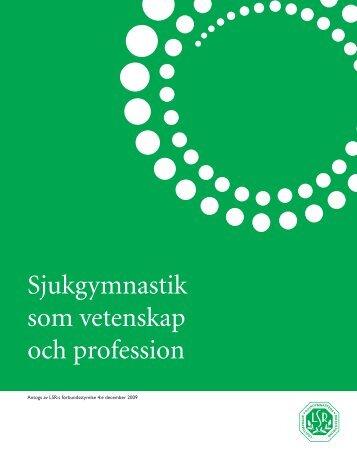 Sjukgymnastik som vetenskap och profession.pdf - LSR