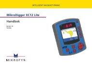 MikroDigger XC12 Lite Handbok