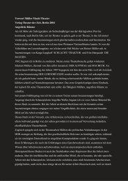 Vorwort Müller Macht Theater Verlag Theater der ... - Stephan Suschke