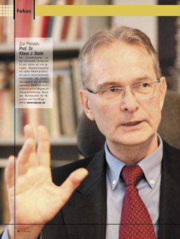 Zur Person: Prof. Dr. Klaus J. Bade